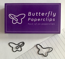 Butterfly shaped paperclips