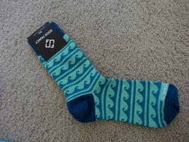 Sock Fancy Teal Wave Mens Socks