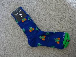 Sock Fancy Blue Cactus Men Socks