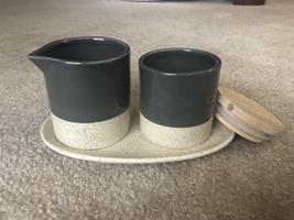 Bloomingville Stoneware Creamer & Sugar w/Tray