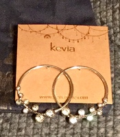 Silver and crystal Kevia earrings