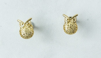 Hedwig Gold Owl Stud Earrings