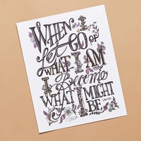 Margot Elena Hand-Lettered Print with Gold Foil