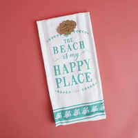"Kitchen towel ""The Beach is my Happy Place"" turtles"