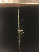 """Atelier Paulin 14k gold fill letter bracelet """"C"""""""