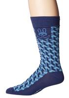 Psycho Bunny Blue Geometric Socks