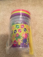 Splatoon plastic cups with lids and straws set of 3