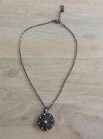 Lolita stone disc drop necklace