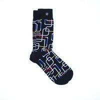 Sock Fancy Men Abstract Black