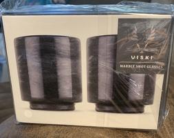 Viski Marble Shot Glasses