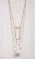 Elly Preston Gold Tone Principle Necklace