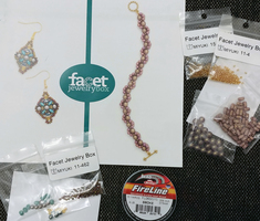 Beads, Clasps, Ear Wires, Thread - All the Supplies to Make 2 Jewelry Items