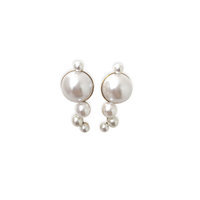 LeLet NY Mercury Pearl Studded Earrings