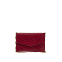 Ava & Kris Meg Red Snake Purse