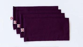 Manduka Yogitoes 3 dark purple headbands
