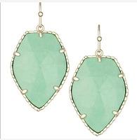 Kendra Scott Corley Gold Drop Earrings In Mint