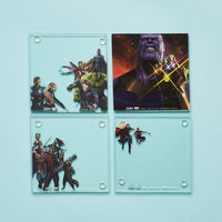 Avengers Infinity War glass stackable coasters