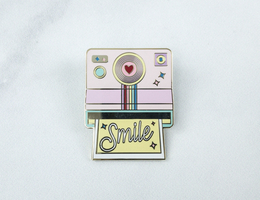 Quirky Crate Quirky Girl Enamel Pin - Polaroid Camera