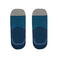 Sprezza Men's No Show Socks - Blue & Teal Stripe