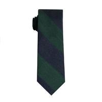 SprezzaBox Knottery Bold Stripe Tie - Navy & Green