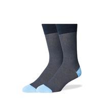 SprezzaBox Twillory Birdseye Socks - Navy and Gray