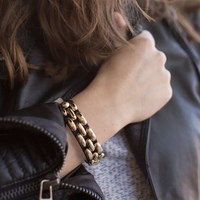 Jewemint Cobblestone Cuff Bracelet - BLACK