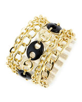 RJ Graziano Gold Multi Chain Bracelet