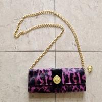 Big Buddha Pink Leopard Clutch Bag