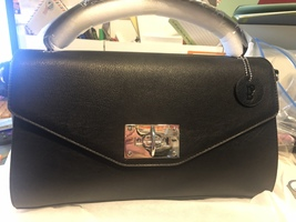Bolzano Beatrice Top Handle/Crossbody Black Bag