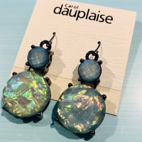 Carol Dauplaise Faceted Blue Opal Dangle Earrings