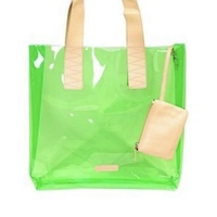 BCBGeneration ADRIAN Clear Green Beach Tote Bag