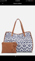JustFab DIRK TOTE - Ikat Print With Removable Tassels