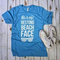 This is My Resting Beach Face tee shirt Summer shirt