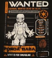 Cantina Ponda Wanted Star Wars tee shirt