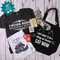 I Just Want To Be A Stay At Home Cat Mom canvas bag shopping tote