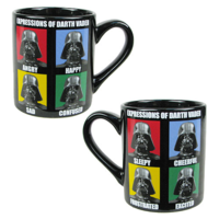 Star Wars Faces of Darth Vader mug
