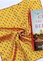 Yellow print scarf