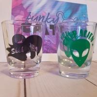 Hep Alien and Secret Bar shot glass set Gilmore Girls Stars Hollow