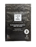 DERMOVIA Lace A Peel Black Bamboo Charcoal Peel Off Mask w/Compression Technology