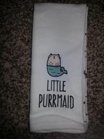 """""""Little Purrmaid"""" Kitchen Towel Set"""