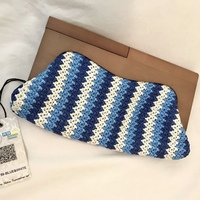 Urban Expressions Wooden Crocheted Clutch