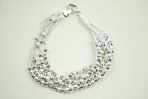 Calia Silver Beaded Bracelet