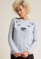 Intarsia Polar Bear Sweater XS Brand New