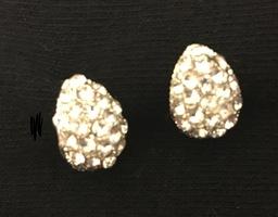 Karrine Silver Pave' Earrings