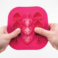 Heart Swizzle Stick Ice Mold