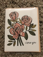 Roses Greeting Card by Paper Jane Studios
