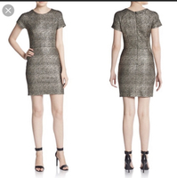 Collective Concepts Gold Metallic Dress with Pockets XS