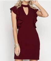 She + Sky Ruffle Sleeve Dress Size Small