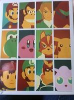 Nintendo Mashup signed art print
