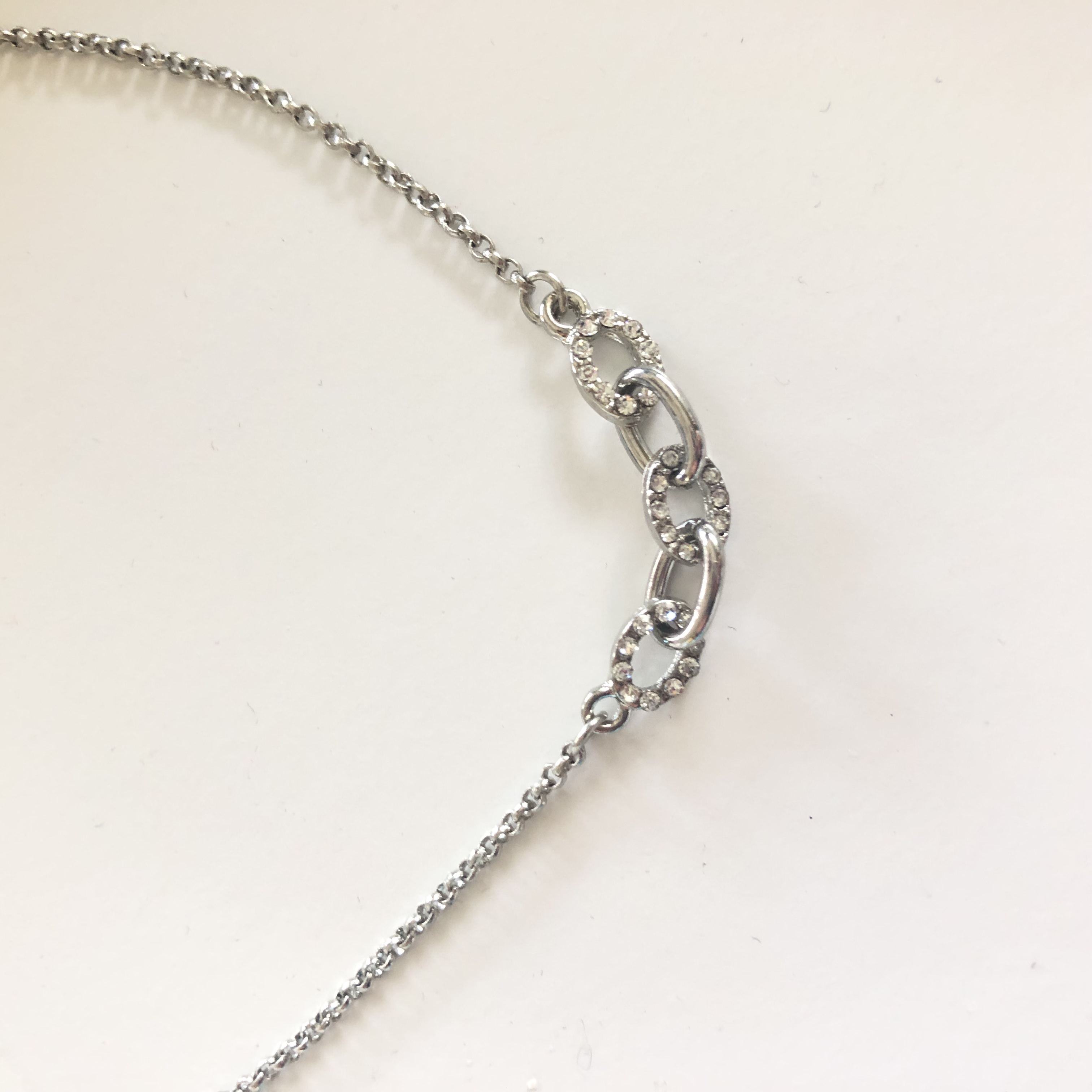 Baublebar Pave Link Necklace in Silver